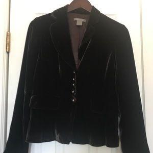 Ann Taylor brown velvet blazer